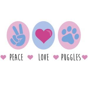 Peace Love Puggles - Puggle T-Shirt