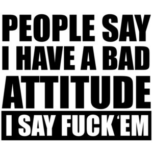 People say I have a bad attitude - I say fuck 'em - funny offensive rude t-shirt