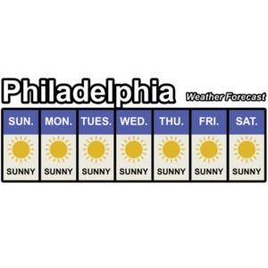 Philadelphia Weather Forecast - It's always sunny in Philadelphia T-Shirt