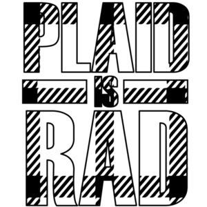 plaid is rad t-shirt