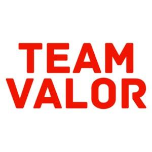 Pokemon Go Team Valor (Text Only) Shirt