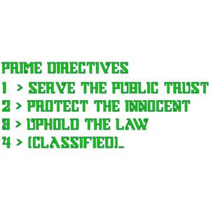 Prime Directives - Robocop - 80's T-Shirt