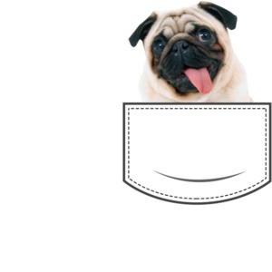 Pug in pocket - pocket pet t-shirt