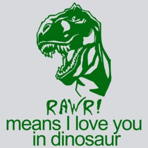 Rawr! Means I Love You In Dinosaur Funny T-shirt