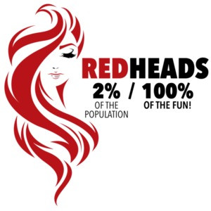 Redheads 2% of the population - 100% of the fun! - ladies t-shirt