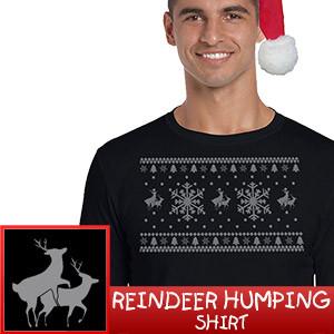 Reindeer Humping Christmas Shirt