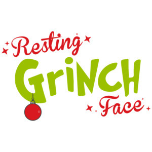 Resting Grinch Face - Funny Christmas T-Shirt