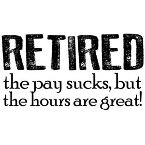 Retired - the pay sucks but the hours are great! Retirement t-shirt