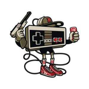 Retro Gaming Gangster Nintendo T-Shirt