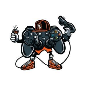 Retro Playstation Gaming Gangsta T-Shirt