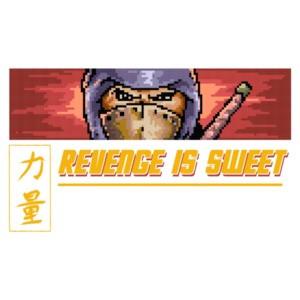 Revenge Is Sweet Retro Ninja Gaiden Gaming T-Shirt