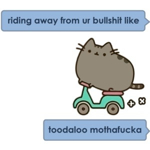 riding away from ur bullshit like toodaloo mothafucka T-Shirt