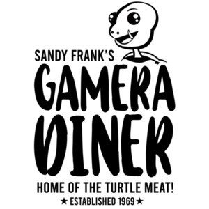 Sandy Frank's Gamera Diner - Home of the turtle meat! - Established 1969 - Mystery Science Theater 3000 - 80's T-Shirt