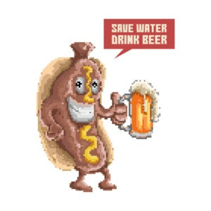 Save Water Drink Beer Retro Drinking T-Shirt