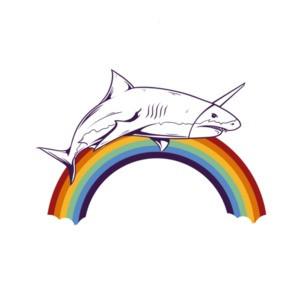 Shark Rainbow Graphic T-Shirt
