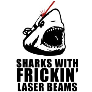 Sharks with frickin laser beams - austin powers t-shirt
