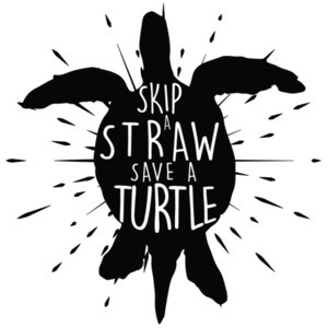 Skip a straw - Save a turtle - t-shirt