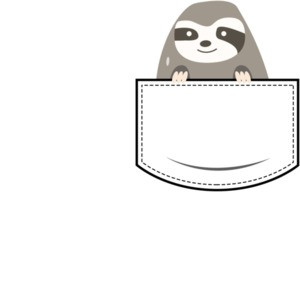Sloth in pocket - pocket pet t-shirt
