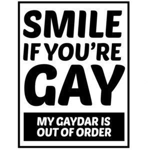 Smile if you're gay - my gaydar is out of order - gay pride t-shirt