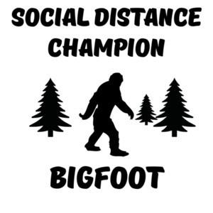 Social Distance Champion Bigfoot Funny Coronavirus Shirt