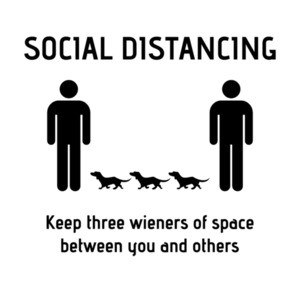 Social Distancing Wieners Funny Coronavirus Shirt
