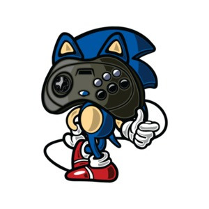 Sonic Sega Controller Head Vintage Gaming T-Shirt