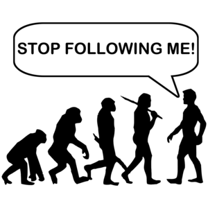 Stop Following Me Evolution Shirt