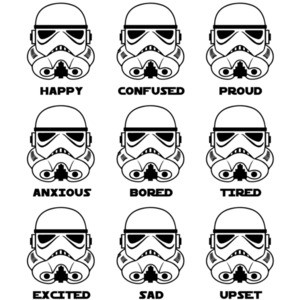 Stormtrooper Emotions - Funny Star Wars T-Shirt