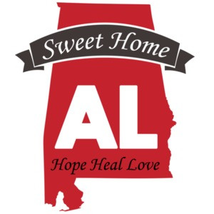 Sweet Home Alabama - Hope Heal Love - Alabama T-Shirt