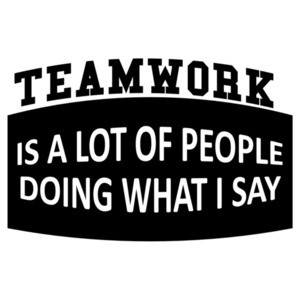 Teamwork Is a Lot Of People Doing What I Say shirt