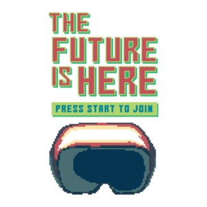 The Future Is Here Press Start To Join Retro Gaming T-Shirt