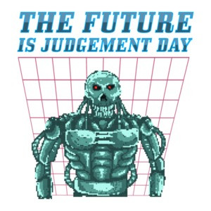The Future Is Judgement Day Retro Terminator T-Shirt