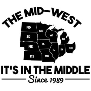The mid-west it's in the middle since 1989 - Minnesota T-Shirt
