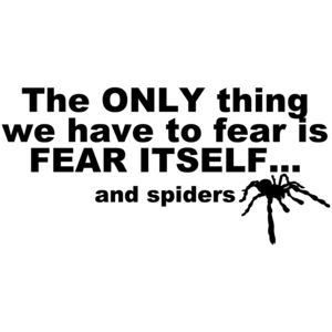 The Only Thing We Have To Fear Is Fear Itself And Spiders Shirt