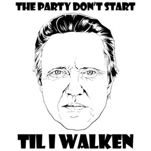 The Party Don't Start Til I Walken Shirt