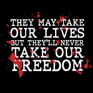They may take our lives but they'll never take our freedom - Braveheart - 90's T-Shirt