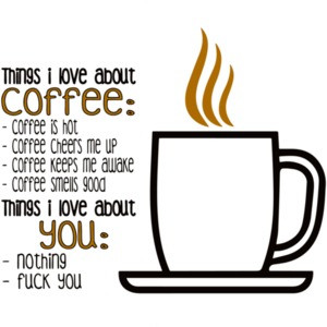 Things i love about coffee t-shirt