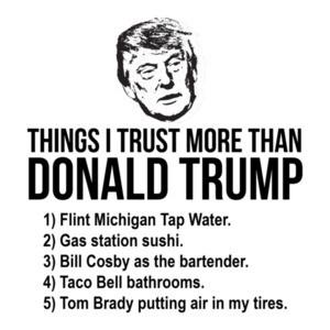Things I Trust More Than Donald Trump T- Shirt