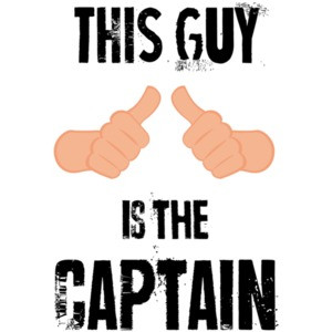 This guy is the captain. Funny Boating T-Shirt