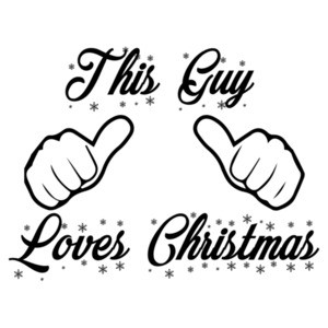 This guy loves Christmas - Funny Christmas T-Shirt