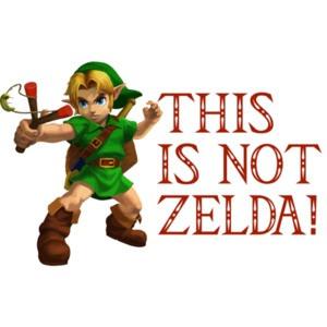 This Is Not Zelda Shirt shirt