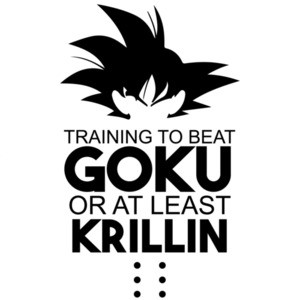 Training to beat Goku or at least krillin - dragon ball t-shirt