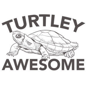 Turtley Awesome - Funny pun t-shirt
