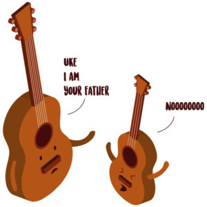 Uke I am your father - Ukulele Guitar - star wars parody t-shirt