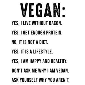 Vegan: Yes, I live without bacon - funny vegan t-shirt