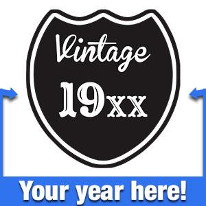 Vintage Custom Birth Year T-Shirt