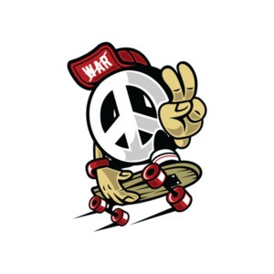 Vintage Peace Skateboarder T-Shirt
