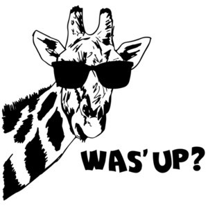 Was' Up? Giraffe Funny T-Shirt