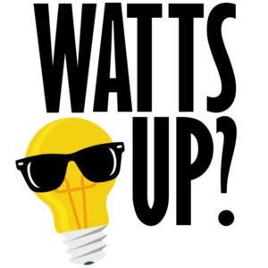 Watts up? Funny pun t-shirt