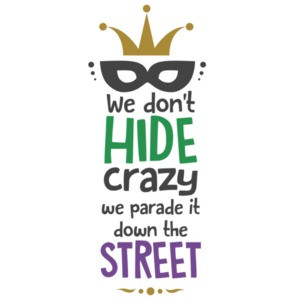 We don't hide crazy. we parate it down the street. mardi gras t-shirt - New Orleans - louisiana t-shirt